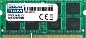 Pamięć DDR3 GOODRAM SODIMM 8GB 1600MHz  ded. do DELL (W-DL16S08G)